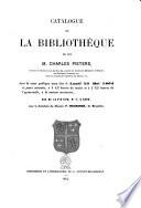 Catalogue de la biblioth  que de feu M  Charles Pieters