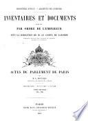 Actes du Parlement de Paris