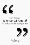 download ebook why do we quote? pdf epub