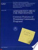 Adolescent Drug Use Prevention