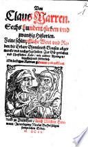 Von Claus Narren Sechs hundert, sieben vnd zwantzig Historien