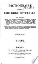 Dictionnaire classique d histoire naturelle