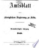 Amtsblatt für den Regierungsbezirk Köln