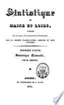 Statistique de Maine et Loire