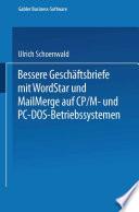 Bessere Gesch  ftsbriefe mit WordStar und MailMerge