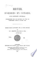 Orders in Council and Other Matters of General Interest Registered on the Records of the Island of Guernsey