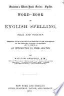 Word book of English Spelling  Oral and Written