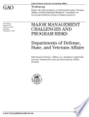 Major management challenges and program risks Departments of Defense  State  and Veterans Affairs