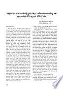Tiếp cận lý thuyết tỷ giá kép: Kiểm định thống kê quan hệ USD:VND