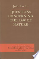 Questions Concerning the Law of Nature