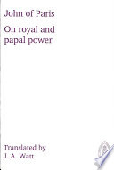 On Royal and Papal Power