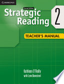 Strategic Reading Level 2 Teacher s Manual