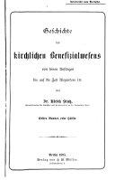 Geschichte des kirchlichen Benefizialwesens von seinen Anf  ngen bis auf die Zeit Alexanders III