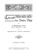 Chronik des Amtes Bipp