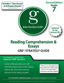 Reading Comprehension   Essays GRE Strategy Guide  2nd Edition