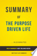 The Purpose Driven Life: by Rick Warren | Summary and Analasys