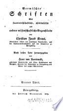 Vermischte Schriften über staatswirthschaftliche, philosophische und andere wissenschaftliche Gegenstände