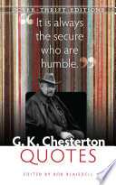 G  K  Chesterton Quotes
