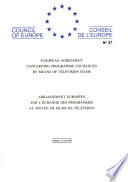 Arrangement européen sur l'échange des programmes au moyen de films de télévision (STE 27)