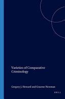 Varieties of Comparative Criminology