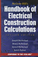 McGraw Hill Handbook of Electrical Construction Calculations  Revised Edition