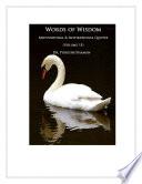 Words of Wisdom  Volume 15