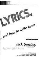 Lyrics Lyrics Lyrics And How To Write Them
