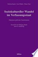 Soziokultureller Wandel im Verfassungsstaat