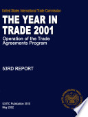 Operation of the Trade Agreements Program, The Year in Trade, 53rd Report 2001