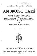 Selections from the works of Ambroise Par