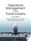 Operations Management in the Travel Industry  2nd Edition