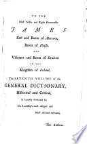 A General Dictionary  Historical and Critical