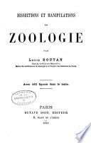 Dissections et manipulations de zoologie