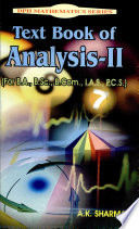 Text Book Of Analysis Ii