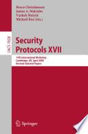 Security Protocols XVII