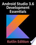 Android Studio 3 6 Development Essentials Kotlin Edition