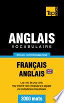 Vocabulaire Fran  ais Anglais britannique pour l autoformation   3000 mots