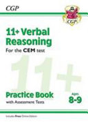 New 11+ CEM Verbal Reasoning Practice Book & Assessment Tests - Ages 8-9 (with Online Edition)