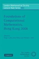 Foundations of Computational Mathematics, Hong Kong 2008