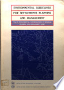 Environmental Guidelines For Settlements Planning And Management Environmental Considerations In Regional Planning And Management Rpm