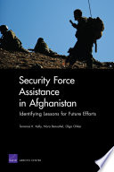 Security Force Assistance in Afghanistan