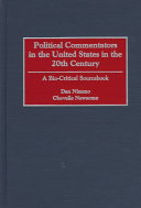 Political Commentators in the United States in the 20th Century