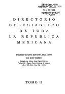 Directorio eclesi  stico de toda la rep  blica Mexicana