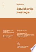 Aspekte der Entwicklungssoziologie