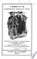A Memento of the Cambridge Tobacco Riot Book PDF