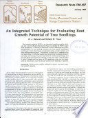 An integrated technique for evaluating root growth potential of tree seedlings