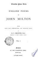 English poems, ed. with life, intr. and selected notes by R.C. Browne