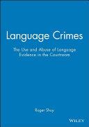 Language Crimes