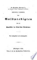 Goldpredigten üb. die Hauptstücke des Luther. Katechismus