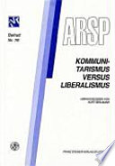 Communautarisme contre libéralisme